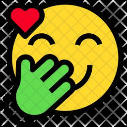 Giggle With Heart Emoji Icon