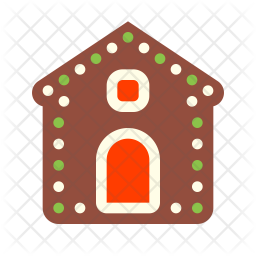 Gingerbread house Icon of Flat style - Available in SVG, PNG, EPS, AI & Icon  fonts