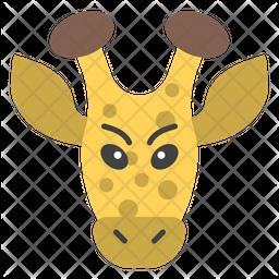 Giraffe Face Emoji Icon