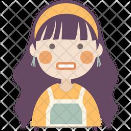 Grimacing Girl Icon