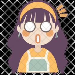 Shocked Girl Icon