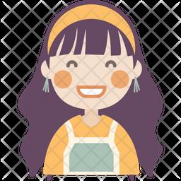 Happy Girl Icon