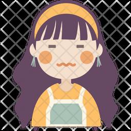 Sour face girl Icon