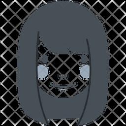 Straight Long Hair Girl Icon