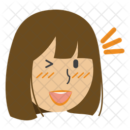 Wink Girl Icon