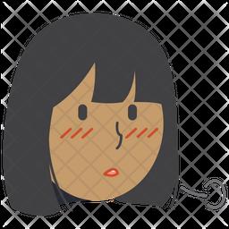 Sighing Girl Icon