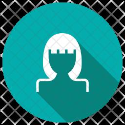 Girl Glyph Icon