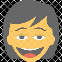 Girl Laughing Icon