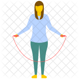 Girl Skipping Rope Icon