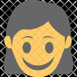 Girl Smiling Icon