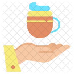 Give Coffee Flat Icon