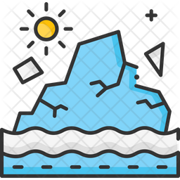 Glacier Melting Icon