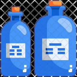 Chemical Bottle Flat Icon