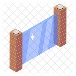 Glass Wall Icon