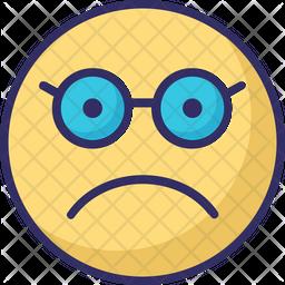 Glasses Face Emoji Icon
