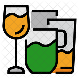 Glasses Mug Icon