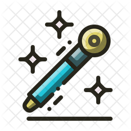 Glitter Pen Icon Of Colored Outline Style Available In Svg Png Eps Ai Icon Fonts