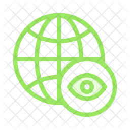 Global Colored Outline Icon