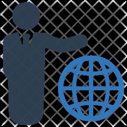 Global, Business, Communication, Businessman, Leader, Web, User Icon