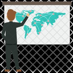 Global Business Presentation Icon