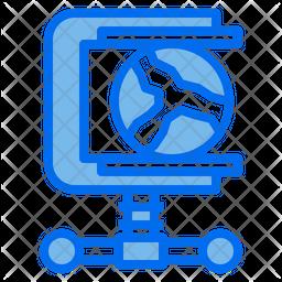 Global Compress Dualtone Icon