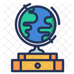 Global Explore Colored Outline Icon