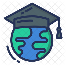Global Learning Colored Outline Icon