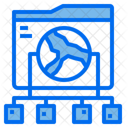 Global Network Dualtone Icon