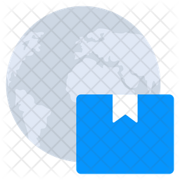 Global Parcel Flat Icon