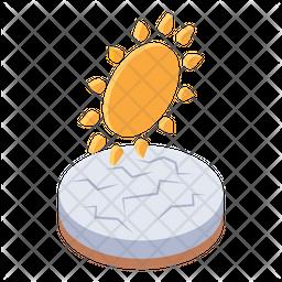 Global Warming warm Isometric Icon