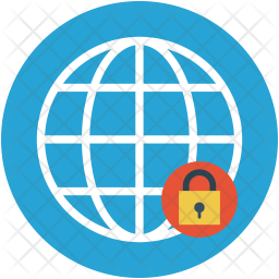 Globe and lock Icon