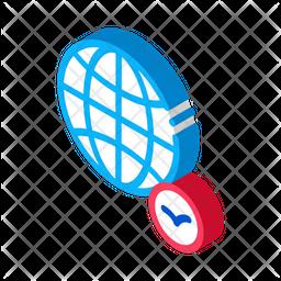 Globe Bird Isometric Icon