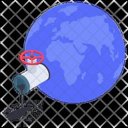 Globe Pouring Icon