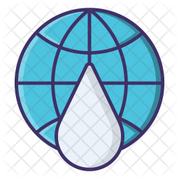 Globe water Icon