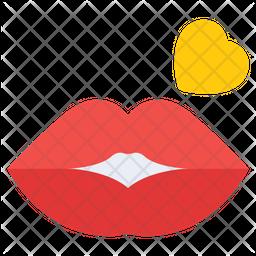 Glossy Lips Icon