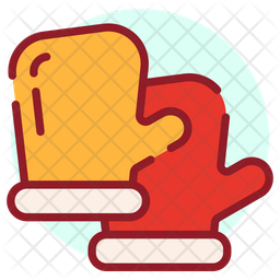 Gloves Colored Outline Icon