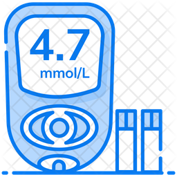 Glucometer Colored Outline Icon