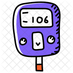 Glucometer Doodle Icon