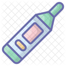 Glucometer Flat Colored Outline Icon