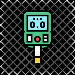 Glucose Colored Outline Icon