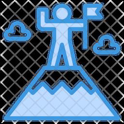 Goal Dualtone Icon