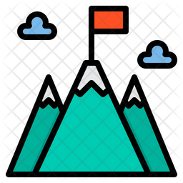 Goal Colored Outline Icon