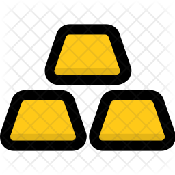 Gold Colored Outline Icon