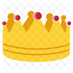 Gold Crown Flat Icon