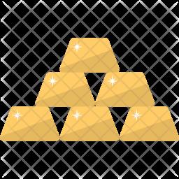 Gold Ingots Flat Icon