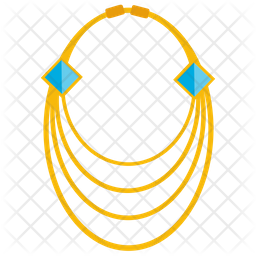 Gold Necklace Flat Icon