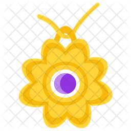 Gold Pendant Flat Icon