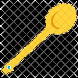 Gold Spoon Flat Icon