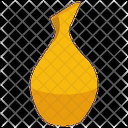 Gold Vase Flat Icon