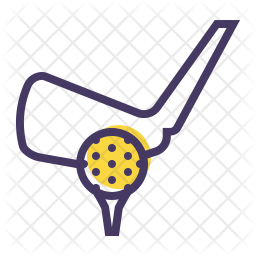 Golf Colored Outline Icon